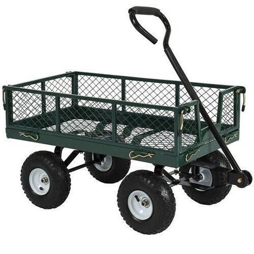 utility cart wagon lawn whellbarrow