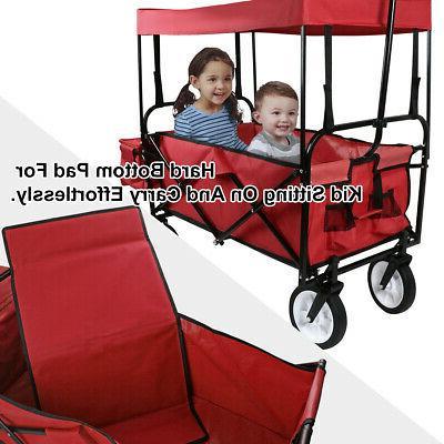 Utility Cart w/Canopy Garden Kid Beach