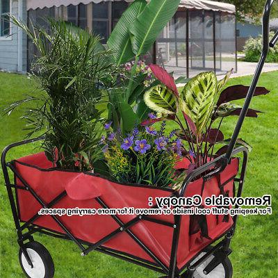 Cart w/Canopy Garden Beach Toy