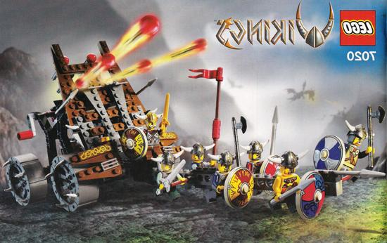 vikings army of with heavy artillery wagon