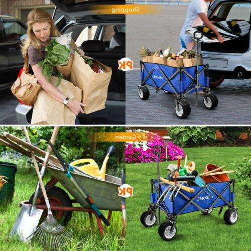 Wagon Cart Collapsible Folding Camping Trolley Beach Utility US