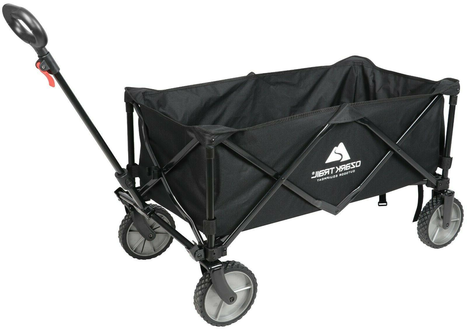 Wagon Cart Folding Garden Buggy Black