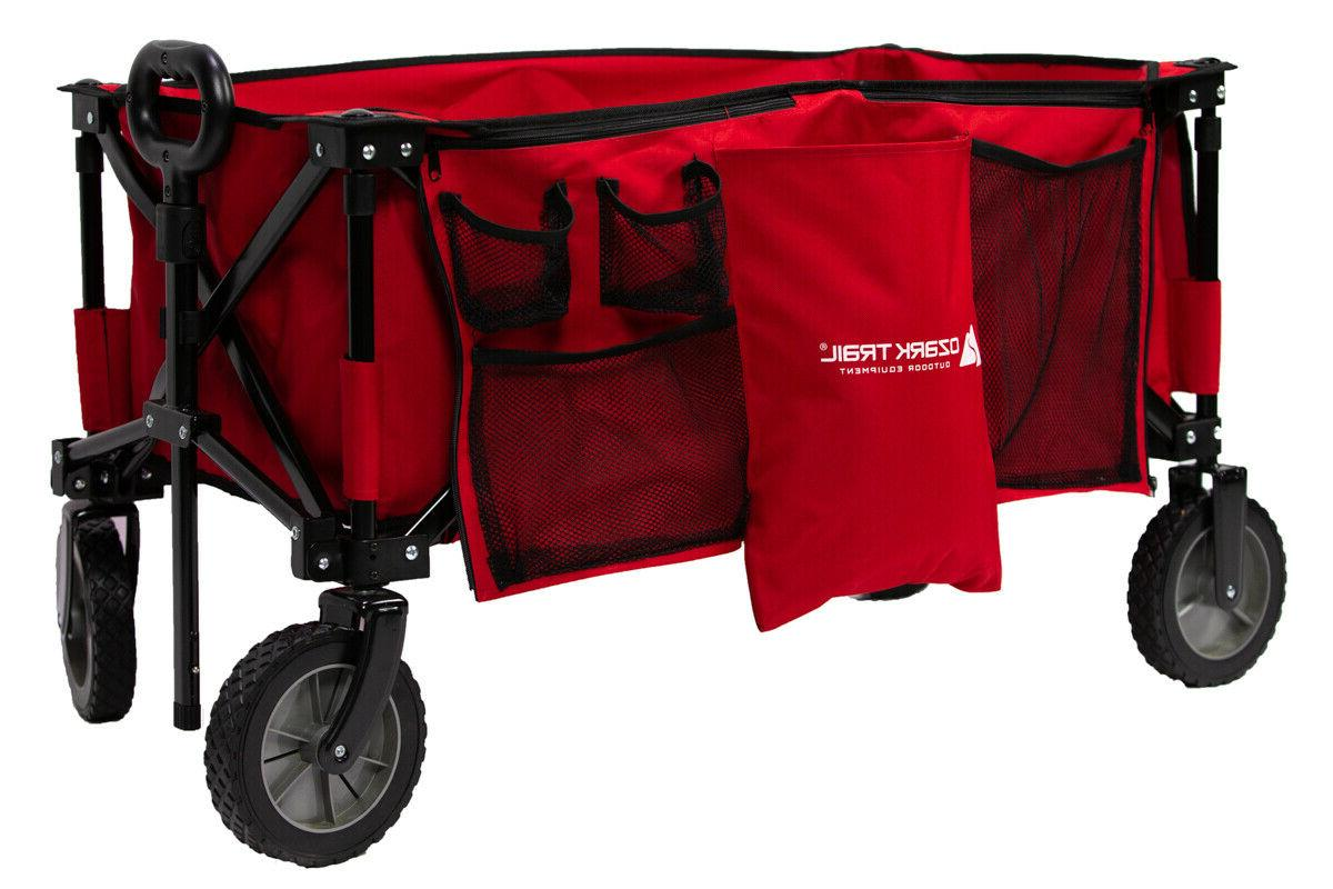 wagon cart folding collapsible garden beach utility