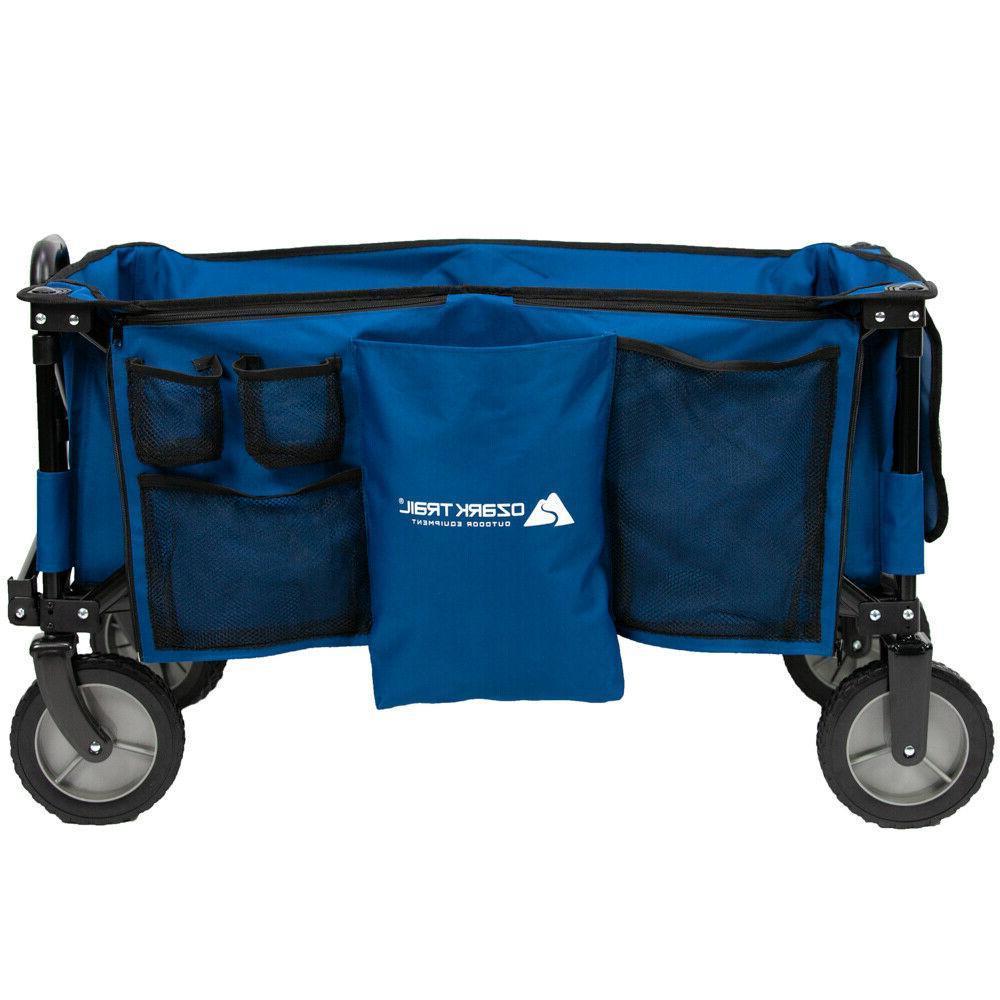 Wagon Big Blue Cart Camping Gear Handle