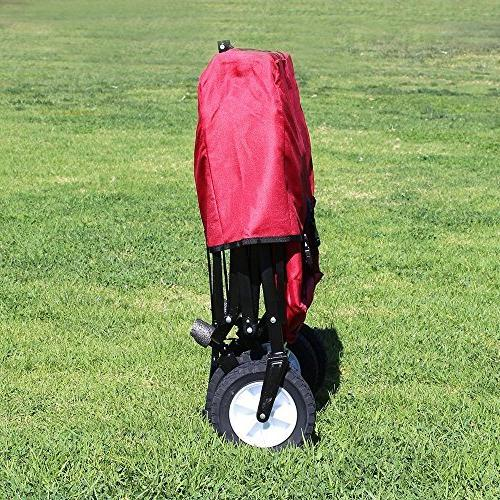 EasyGoProducts Wagon Red Collapsible Utility, Fits Trunk of Standard