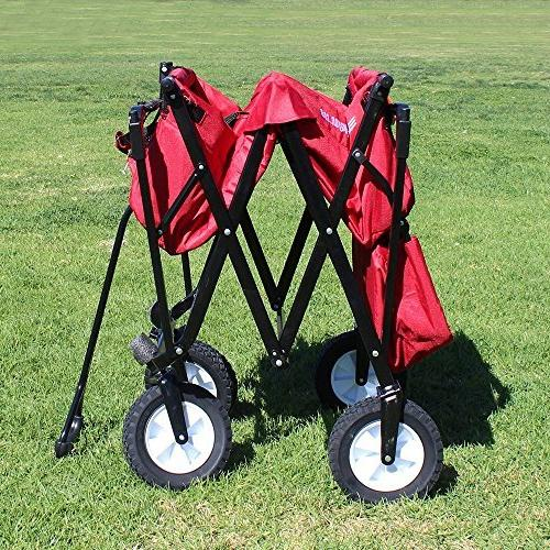 EasyGoProducts Wagon Red Folding Collapsible Trunk of