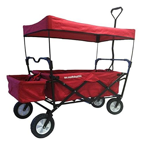 wagon red folding collapsible utility
