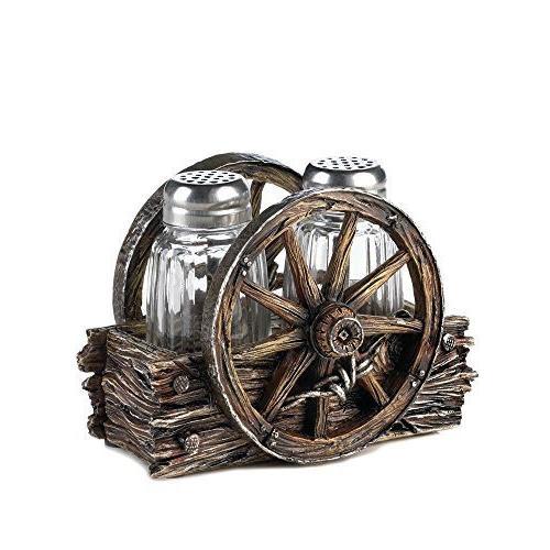 wagon wheel shaker set home