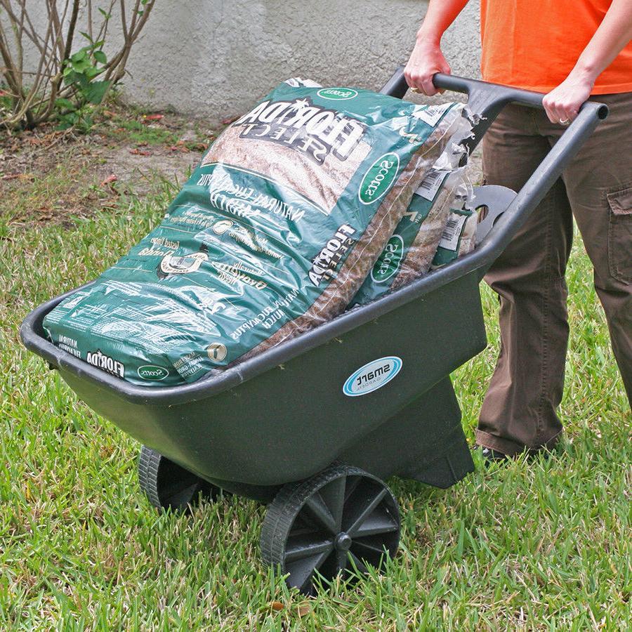 Wheelbarrow Cart Wagon Garden Lawn Utility Dirt Flowers