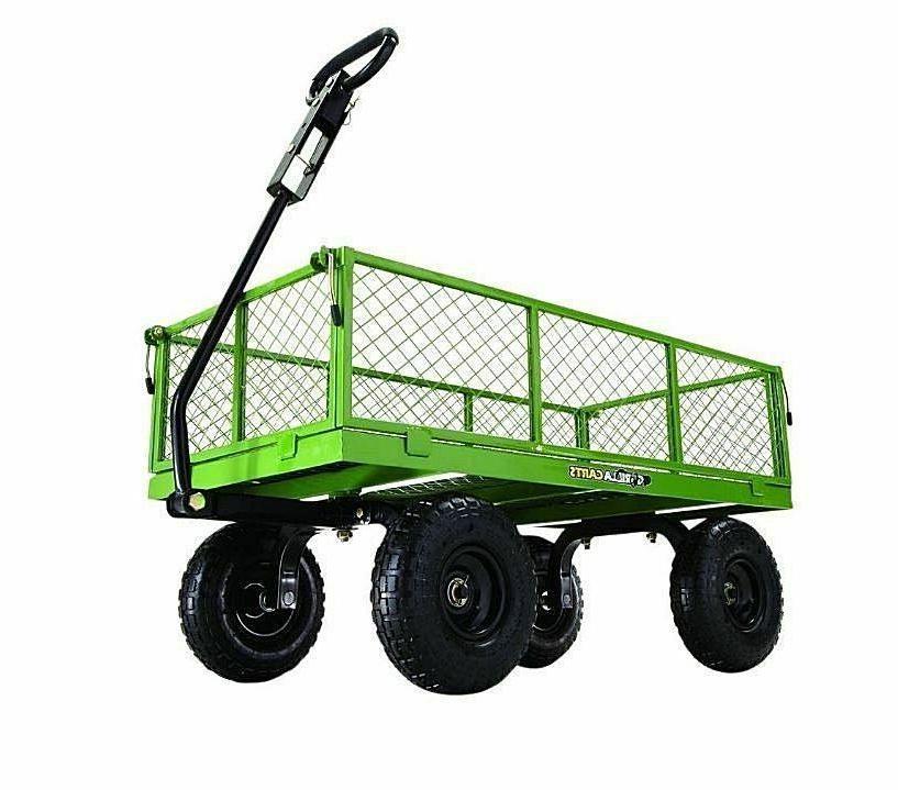 yard steel utility garden wagon