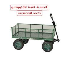 Sandusky Lee CW4824 Steel Utility Garden Cart with Folding S