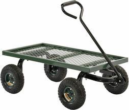 Lee FW Steel Crate Wagon, Green, 1000 lbs Load Capacity, 14-