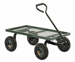 Sandusky Lee FW Steel Crate Wagon, Green, 1000 lbs Load Capa