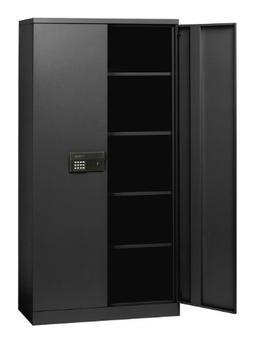 Sandusky Lee KDE7236-09 Black Steel SnapIt Storage Cabinet,