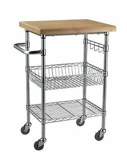 "Sandusky Lee MKTBB242036 Bamboo Top Wire Cart, 20"" Length x"