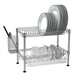 Sandusky Lee WDR101812 Two Tier Wire Dish Rack, Chrome