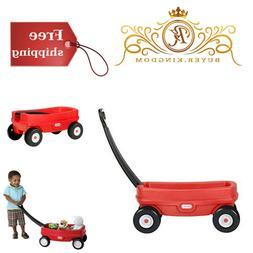 Little Red Wagon Indoor Outdoor Pull Along Toys For Kids Tod