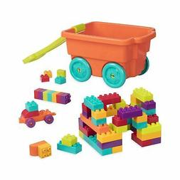 Battat - Locbloc Wagon - Building Toy Blocks for Toddlers