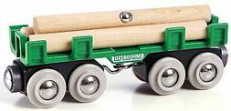 Brio LUMBER LOADING WAGON Train Set Accessory Wooden Toy Gif