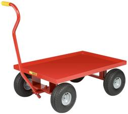 Little Giant LW-2436-10P Steel Solid Deck Wagon Truck with 1