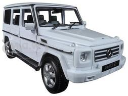 MERCEDES BENZ G CLASS WHITE WAGON 1/24 DIECAST MODEL CAR BY