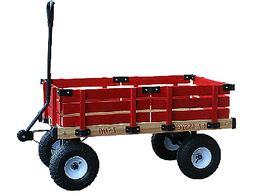 Millside Industries 1500-513 20 in. x 38 in. Wooden Wagon wi