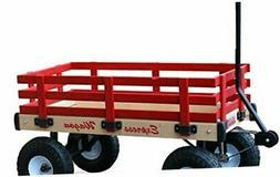 Millside Industries Wooden Express Wagon, 20-Inch X 38-Inch