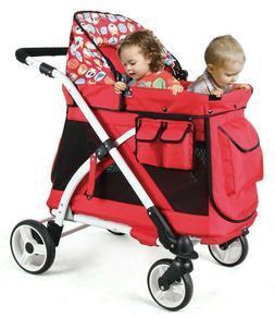 Multipurpose 5-in-1 Baby Stroller Wagon Playpen Removable Se