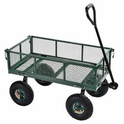 Carts Steel Utility Garden Wagon 400 lb. Load Capacity