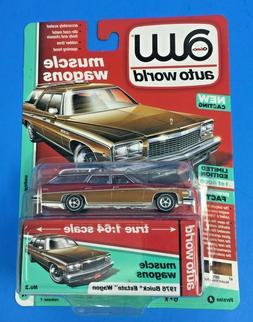 AUTO WORLD MUSCLE WAGONS 1976 BUICK ESTATE WAGON RELEASE 1 V