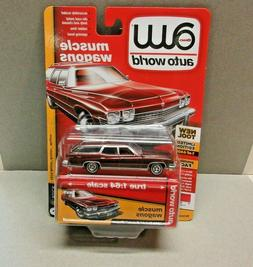 AUTO WORLD  MUSCLE WAGONS RED 1974 BUICK WAGON NEW IN PACKAG