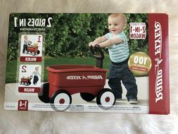 Radio Flyer My 1st 2-in-1 Wagon Ride On, Red NEW!!