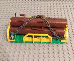 Lego New City MOC 3 Logging Logs Trunk Tree W/ Train Wagon E