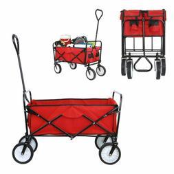 New Collapsible Wagon Cart Kid Beach Folding Camping Trolley