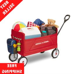 NEW EZ Fold Wagon Padded Seat with Seat Belts Red kids 3-in-