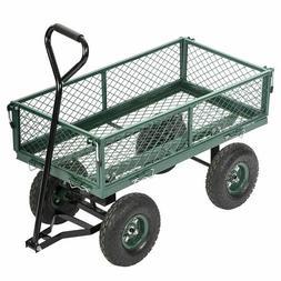 New Garden Carts Wagons Heavy Duty Utility Outdoor Steel Bea