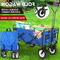 New Wagon Cart Beach Collapsible Folding Camp Trolley Garden