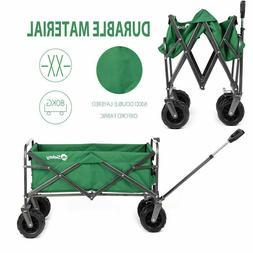 Outdoor Collapsible Folding Wagon Cart Garden Beach Utility