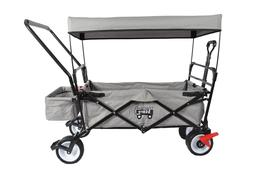 OUTDOOR FOLDING WAGON CANOPY GARDEN  PUSH/PULL UTILITY CART