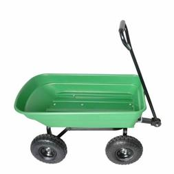 Outdoor Garden Cart Utility Pull Wagon Removable Steel Side