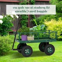 Outdoor Garden Cart Utility Pull Wagon with Removable Sides
