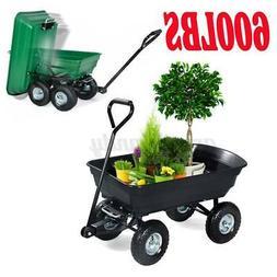 outdoor lawn garden cart utility pull wagon