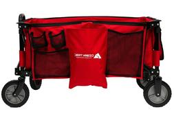 Ozark Trail Quad-Folding Wagon with Telescoping Handle, Red,