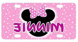 PINK MINNIE MOUSE MINI LICENSE PLATE Any Name Personalized K