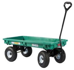 Farm Tuff 03548 Plastic Deck Wagon, 20-Inch by 38-Inch, Gree