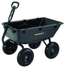 Gorilla Carts Poly Garden Dump Cart with 2-in-1 Convertible