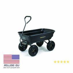 Gorilla Carts GOR4PS Poly Garden Dump Cart with Steel Frame