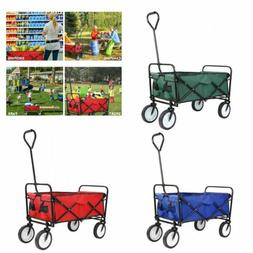 pull push heavy duty collapsible folding wagon