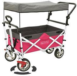 Creative Outdoor Distributor Push Pull Wagon for Kids, Folda