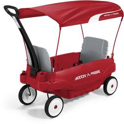 Radio Flyer Deluxe Family Kids Outdoor Wagon Canopy Folding